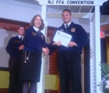 Photo of a presentation of a State FFA Degree at the 2012 State Convention