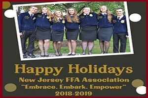 Photo of 2018-2019 state officer team holiday card