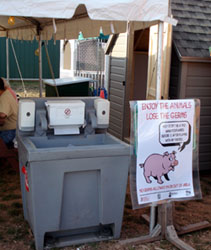 Photo of Hand Wash Station at Sussex County Fair - Click to enlarge