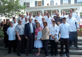 Photo of all the chef competitors in the 2011 Jersey Seafood Challenge