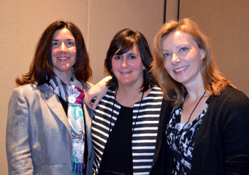 Photo of the NJDA's Rose Tricario and Jennifer Zeligson with Tanya Steel