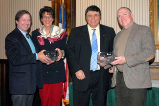 Photo of Drazin, Karyn Malinowski, Luchento and Assistant Secretary of Agriculture Al Murray