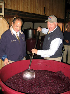 Photo of Assemblyman Doug Fisher and Secretary Kuperus at Amalthea Cellars