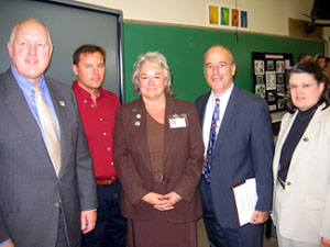 Photo of Secretary Kuperus, Professor Craig Tolley, Jan-Marie Traynor, College VP Dominick Latorraca and Nancy Trivette, NJDA Ag Ed Coordinator