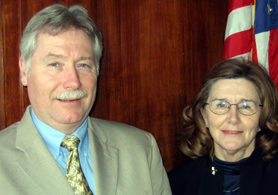 Photo of new State Board of Agriculture members Scott Ellis and Ann Dorsett - Click to enlarge