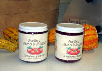Photo of jarred cranberry sauce