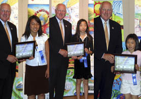 Photo of New Jerseys National Conservation Poster Contest Winners - Click to enlarge