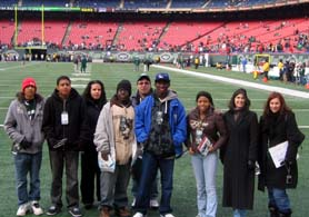 Photo of PCTI on Field at Giants Stadium - Click to enlarge