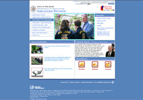 Photo of Ag Education website home page - Click to enlarge