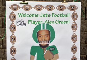 Photo of poster made for NY Jets player Alex Green - Click to enlarge
