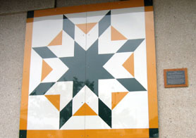 Photo of NJDA Barn Quilt - Click to enlarge
