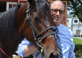 Photo of Secretary Fisher with Bettors Edge - Click to enlarge