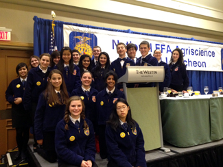 Photo of the Biotechnology High School FFA Agriscience Fair participants
