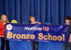 Photo of Healthier US School banner - Click to enlarge