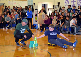 Photo of Nick Folk conducting Play 60 games - Click to enlarge