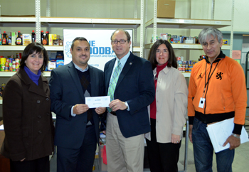 Photo of the Community Food Pantry Fund Check Presentation