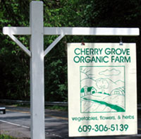 Photo of Cherry Grove Organic Farm sign