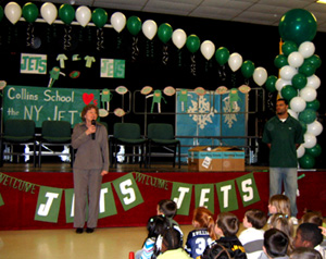 Photo of Janet Renk and Stacy Tutt at Collins School