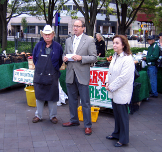 Photo of Jim Matarazzo, Secretary Fisher and Gloria Rodriguez