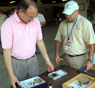 Photo of Secretary Fisher and Paul Kurtz at Cheesequake State Park