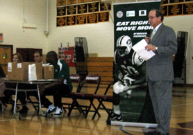 Photo of Secretary Fisher at Summit High School - Click to enlarge