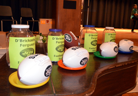 Photo of autographed Jets footballs for a drawing - Click to enlarge