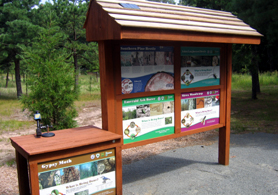 Photo of forest pest kiosk - Click to enlarge