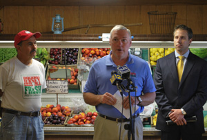 Photo of Jim Giamarese, Al Murray and Tom Calcagni