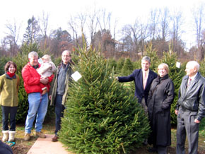 Photo of group at Hidden Pond Tree Farm