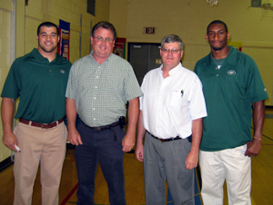 Photo of Kenwin Cummings, Peter Melick, Mayor Hoffman, and Marcus Henry