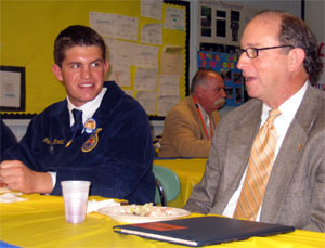 Photo of Jimmy Nardelli and Secretary Fisher
