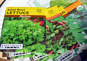 Photo of seed packets - Click to enlarge