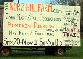 Photo of Norz Hill Farm sign