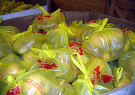 Photo of bagged Jersey Fresh produce - Click to enlarge