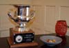 Photo of the Jersey Seafood Challenge trophy and dish