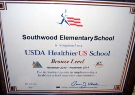 Photo of HUSSCA Plaque for Southwood Elementary School - Click to enlarge