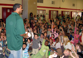 Photo of Stacy Tutt at Collins School - Click to enlarge