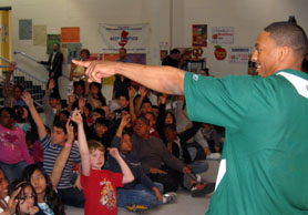 Photo of  Chansi Stuckey during program at Somerset School - Click to enlarge