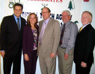 Photo of Joe DiVincenzo, Marie Barry, Secretary Fisher, Dean Goodman and Pennella