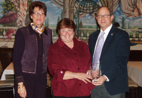 Photo of Karyn Malinowski, Linda Toscano and Secretary Fisher - Click to enlarge