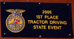 Photo of Tractor Contest Sign