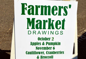 Photo of a farmers market sign - Click to enlarge