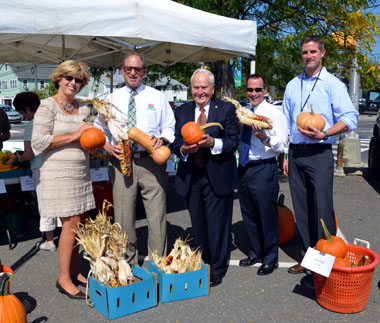 Photo of officials at the Toms River Farmers Market