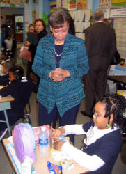 Photo of Regional Administrator Jackson at Harriet Tubman School