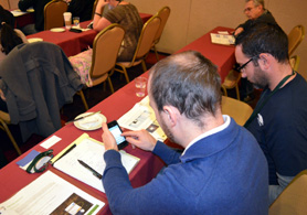 Photo of the Twitter training - Click to enlarge