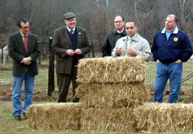 Photo of Assemblyman Burzichelli, Secretary Kuperus, Assemblyman Fisher, Mayor Chila and Senator Sweeney - Click to enlarge