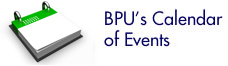 BPU's Calendar of Events