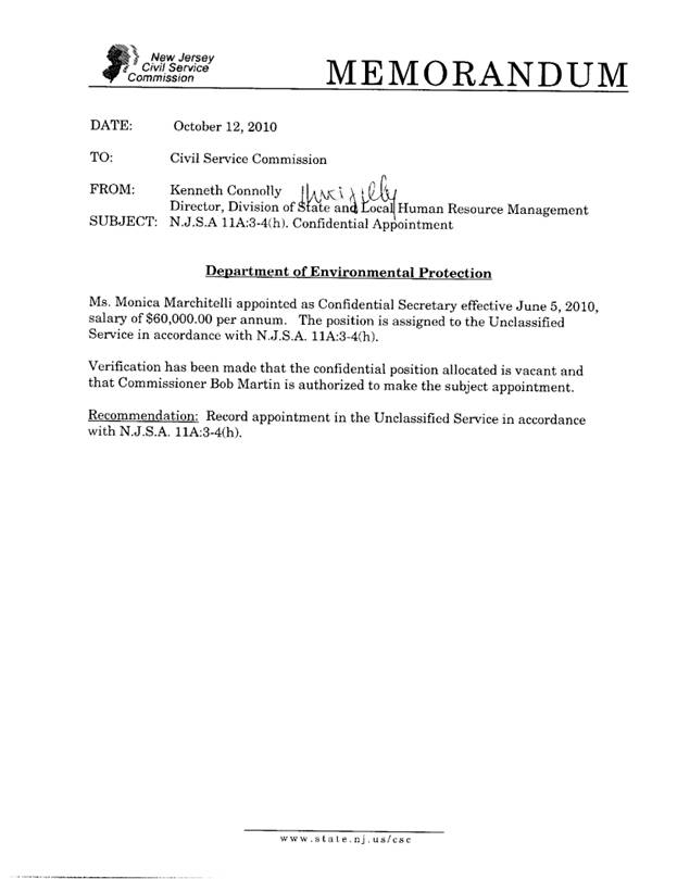 Civil Service Commission Meeting Minutes Of January 19 2011