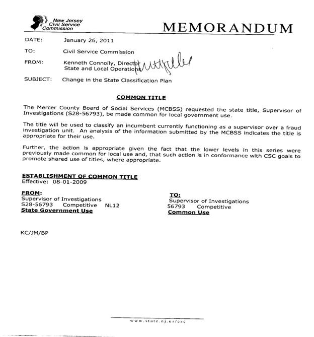 Civil Service Commission Meeting Minutes Of February 16 2011
