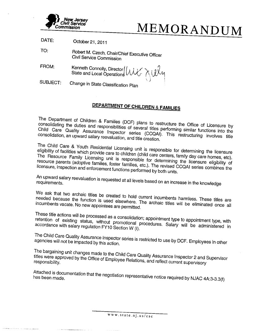Civil Service Commission | Meeting Minutes of November 22 2011
